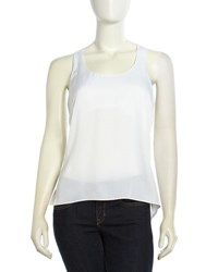Bcbgmaxazria Edita Racerback High Low Tank Top White 100