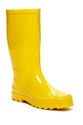 West Blvd Shoes Mid Calf Rain Boot Yellow