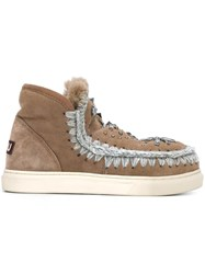 Mou Embellished Boots Nude And Neutrals