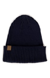 Herschel 'Cast' Knit Cotton Beanie Navy