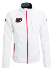 Spyder Wengen Fleece White Red