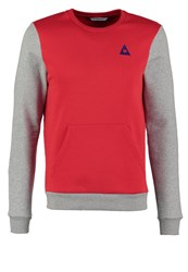 Le Coq Sportif Helior Sweatshirt Pur Rouge Light Heather Grey Ultra Blue Red