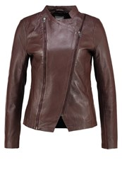 Cream Cali Leather Jacket Dark Brown