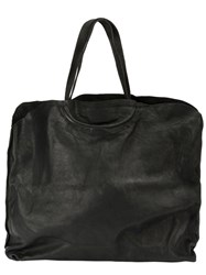 Guidi Large Square Tote Black