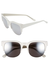 Cole Haan 52Mm Partial Frame Sunglasses White