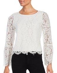 Vince Camuto Petite Bell Sleeved Lace Blouse New Ivory