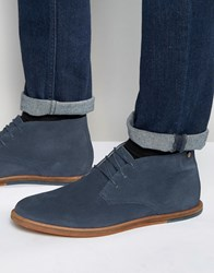 Frank Wright Strachan Chukka Boots Navy Suede Blue