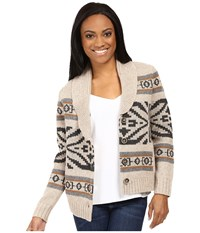 Pendleton Petite Westward Cardigan Natural Heather Multi Women's Sweater Neutral