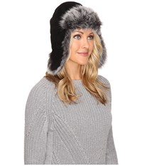 Ugg Toscana Long Pile Trapper Black Multi Cold Weather Hats
