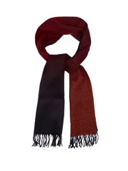 Paul Smith Gradient Wool And Cashmere Blend Scarf Red Multi