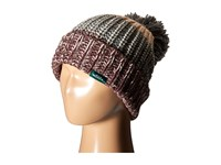 Woolrich Wool Blend Chunky Slouch Cuff Beanie With Matching Pom Brown Beanies