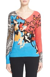 Women's Etro Paisley Silk And Cashmere Sweater