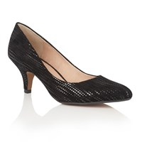 Lotus Dandelion Pointed Toe Courts Black