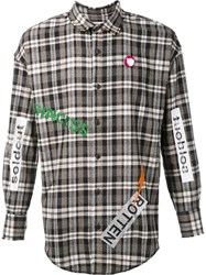 Sold Out Frvr 'Susi 51' Flannel Shirt Nude Neutrals