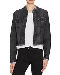 Nobody Fray Denim Jacket In Razor