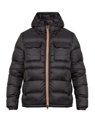 Moncler Morane Hooded Quilted Down Coat Navy