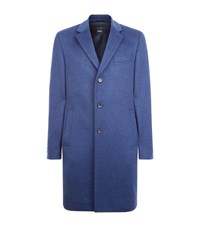 Boss Brushed Wool Overcoat Male