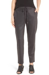 Eileen Fisher Women's Heathered Stretch Flannel Twill Ankle Pants