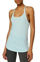 Ivy Park Women's Sheer Ribbed Racerback Tank