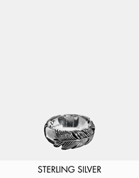 Seven London Sterling Silver Feather Ring