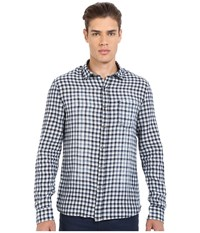 Mavi Jeans Checked Button Down Shirt Antique White Checked Men's Clothing Gray