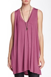 Riller And Fount Juno V Neck A Line Tunic Pink