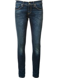 Rag And Bone Jean 'Dre' Cropped Jeans Blue