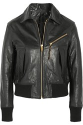 Golden Goose Textured Leather Jacket Black