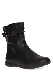 Evans Extra Wide Fit Black Comfort Ankle Boot