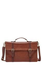 Fossil 'Thompson' Leather Portfolio Cognac