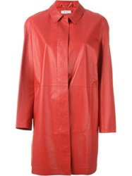 Desa 1972 Buttoned Up Coat Red