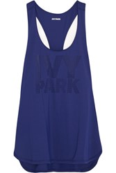Ivy Park Perforated Stretch Jersey Tank Navy