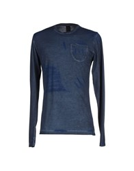 Jijil Topwear T Shirts Men Slate Blue