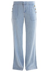 Gap Bootcut Jeans Bleached Chambray Blue Grey