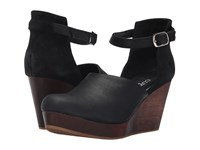 Cordani Felton Black Dark Brown Wood Women's Wedge Shoes