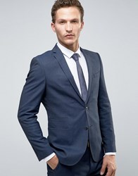 Selected Homme Slim Suit Tuxedo Jacket With Satin Lapel Navy