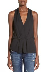 Women's Leith Sleeveless Surplice Top Black