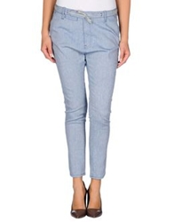 Paolo Pecora Donna Casual Pants Pastel Blue