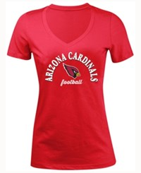 5Th And Ocean Women's Arizona Cardinals Checkdown Le T Shirt Red