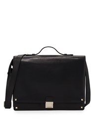 Red Valentino Flap Top Leather Briefcase Black