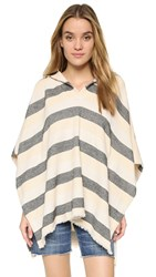 Solid And Striped The Beach Cape Black Pink Cream