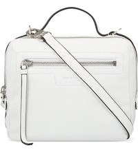 Karen Millen Sporty Leather Satchel Bag White