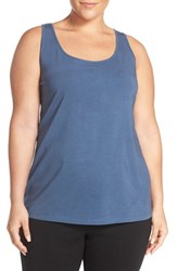 Nic Zoe Plus Size Women's 'Perfect' Scoop Neck Tank Shadow Blue