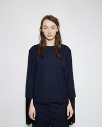 Marni Layered Sleeve Pinstripe Blouse