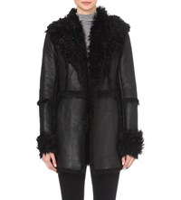 French Connection Toscana Sheepskin Coat Black
