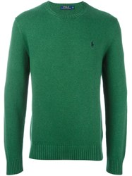 Polo Ralph Lauren Logo Embroidered Sweater Green