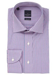 Daniel Hechter Multi Gingham Tailored Fit Shirt Pink Blue