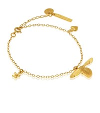 Alex Monroe 25Th Anniversary Baby Bee Charm Bracelet Female