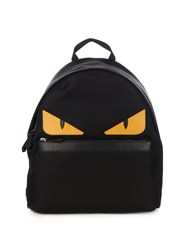 Fendi Bag Bugs Nylon And Leather Backpack