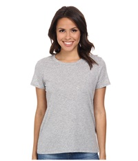 Michael Stars Short Sleeve Crew Neck Tee Heather Grey Women's T Shirt Gray